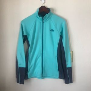 The North Face Blue Soft Zip Up Jacket Sweatshirt